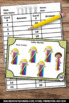 Kindergarten Math Centers, Tally Marks Task Cards, Counting Activities & Games