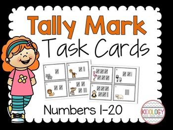 Tally Marks Numbers 1-20 / Number Sense / Counting