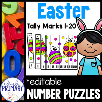 Tally Marks #1-20: Easter Number Puzzles