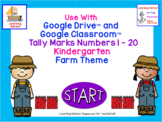 Tally Marks Numbers 1 - 20 Kindergarten Farm Theme for Goo