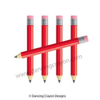 Pencil Tally Marks | Plain and Shiny Tally Marks | Clip Art for Teachers