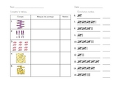 Tally Marks Quiz - Grade 1 French Immersion