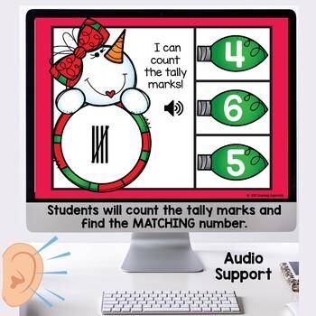 Tally Marks Task Cards Christmas themed