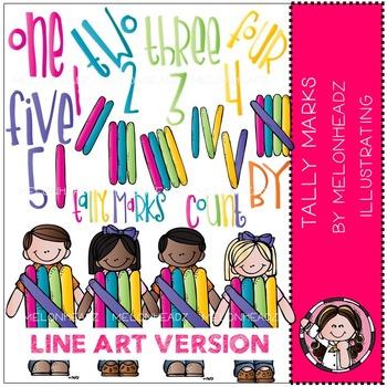 Tally Marks by Melonheadz LINE ART