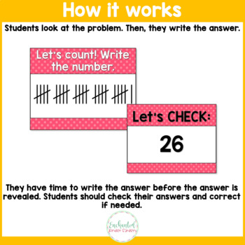 Tally Marks - to 30 - Number Sense Math Center Powerpoint See it Write it