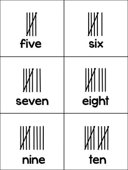 Tally Marks Matching Game