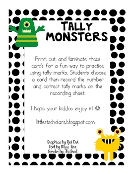 Tally Monster FREEBIE