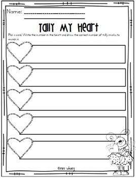 Tally My Heart Center Activity