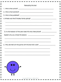 Book Activities for Tally O'Malley