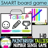Tally Paint Fun - 1-10 Tallies Practice SMART board and Projector Game