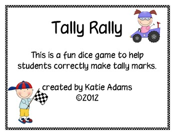 Second Grade Graphing Tally Rally