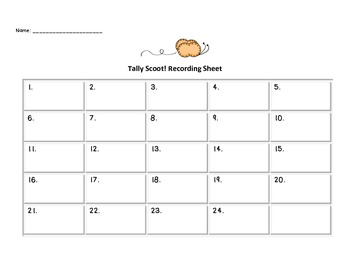 Tally Scoot Math Game