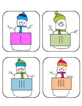 Tally Snow!  Counting Snowmen Using Tally Marks