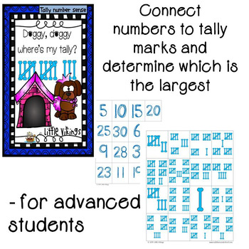 Tally Number Sense Top It Games