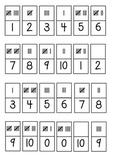 Tally Mark Train Math Partner Game