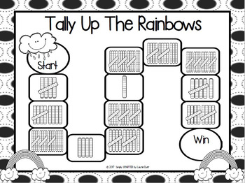 Tally Up The Rainbows:  NO PREP Tally Marks Game