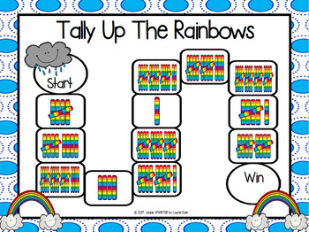 Tally Up The Rainbows:  NO PREP Tally Marks Game