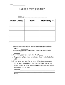 Frequency Tables Worksheets Teaching Resources | Teachers Pay Teachers