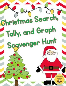 Tally and Graph - A Christmas Scavenger Hunt