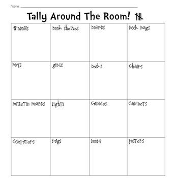 Tallying Around The Classroom Printable