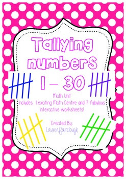Tallying Numbers 1 - 30