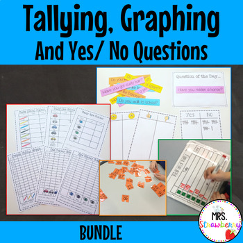 Tallying and Yes/ No Questions (Statistics and Data) Bundle