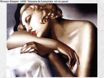 Tamara de Lempicka SHOW + TEST = 174 Slides - Portrait Cubism Art Deco Lempicka