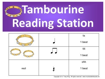 Tambourine Rhythm Reading Station