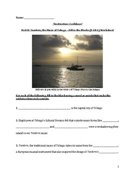 Tambrin, the Music of Tobago – Reading Comprehension Worksheet