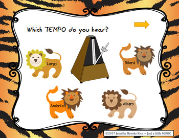 Taming Tempo -- aural recognition practice game for speed in music