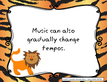 Taming Tempo -- songs and activities to present & practice speed in music