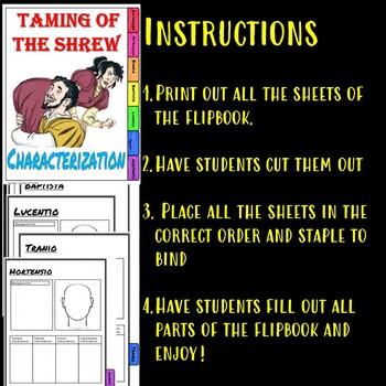 Taming of the Shrew Characterization Flipbook