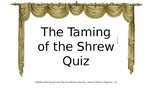 Taming of the Shrew Clickers Quiz