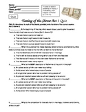 Taming of the Shrew Reading Quizzes Act 1-5