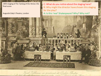 Taming of the Shrew : Staging