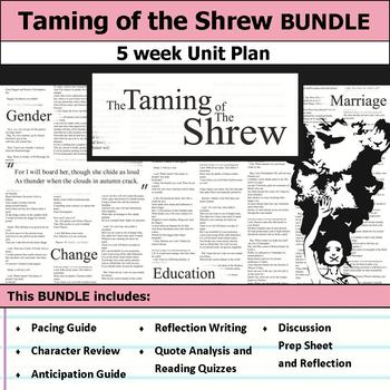 Taming of the Shrew by William Shakespeare Unit Bundle