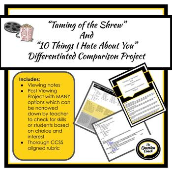 Taming of the Shrew differentiated comparison project
