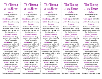 """Taming of the Shrew ed. of Bookmarks Plus: Great """"gift"""" fo"""