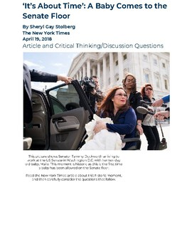 Tammy Duckworth Changes the Senate Rules: Article and Discussion Questions
