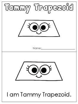Tammy Trapezoid Printable Mini Book. Preschool-Kindergarten 2-D Shapes.