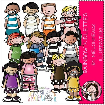 Tammy's rainbow kidlettes by Melonheadz COMBO PACK