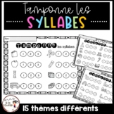 FRENCH Stamping Syllables - Tamponne les syllabes - Conscience phonologique