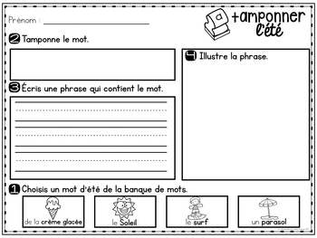 Tamponner l'été (FRENCH Summer Stamping activities)