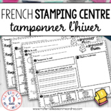 Tamponner l'hiver (FRENCH Winter Stamping activities)