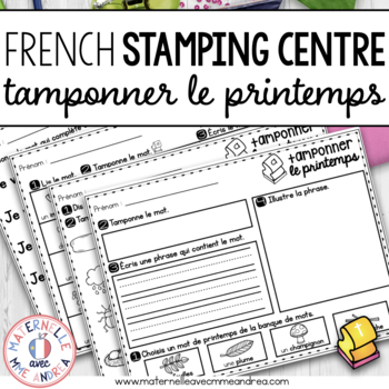 Tamponner le printemps (FRENCH Spring Stamping activities)