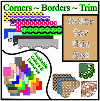 Tan Borders Trim Corners *Create Your Own Dream Classroom/Daycare*