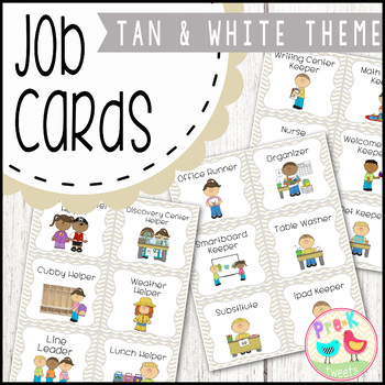 Classroom Jobs - Tan and White