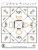 Tan Color & Shapes - Cootie Catcher Fortune Teller - 1 pg *o