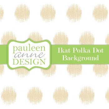 Tan Ikat Polka Dot Background