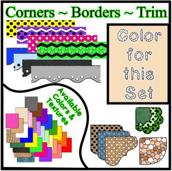 Tan Pastel Borders Trim Corners *Create Your Own Dream Classroom/Daycare*